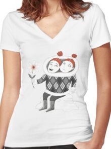 Good Mood Bad Mood Women's Fitted V-Neck T-Shirt