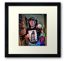 Taking time for some Serious Reflection on the Human Condition . Framed Print