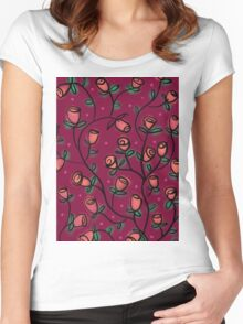 My Petit Flower Women's Fitted Scoop T-Shirt
