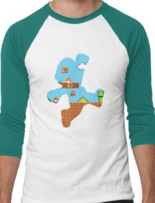 A Mario to the Past Men's Baseball ¾ T-Shirt