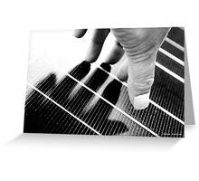 Hand Shadow on a Solar Panel Greeting Card