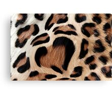 leopard fur heart Canvas Print