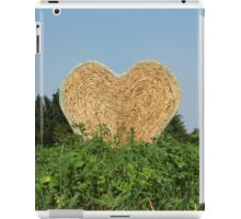 heart hay in the countryside iPad Case/Skin