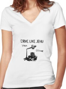 Drive Like Jehu - Yank Crime Women's Fitted V-Neck T-Shirt