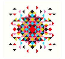 Abstract triangles design Art Print