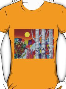 Sunset Birch trees T-Shirt