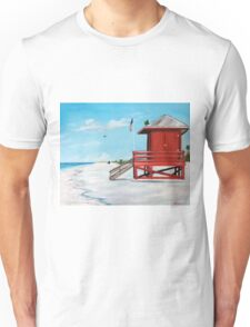 Red Lifeguard Stand On The Key Unisex T-Shirt