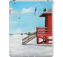Red Lifeguard Stand On The Key iPad Case/Skin