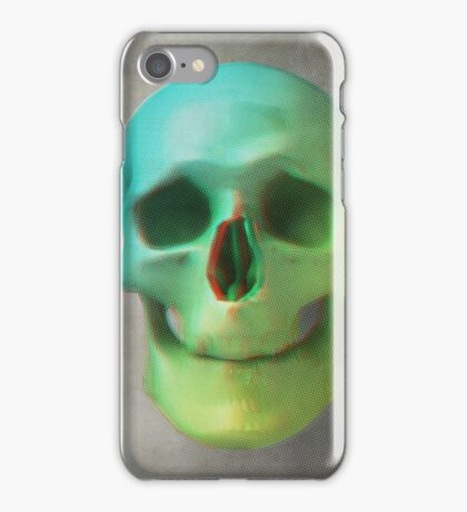 Anaglyph // Skull iPhone Case/Skin