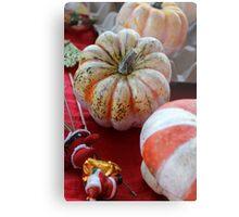 decorated pumpkins Metal Print