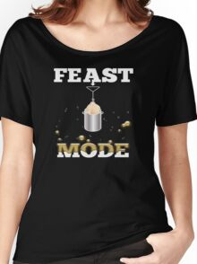 Feast Mode Deep Fried Turkey Thanksgiving T-Shirt Women's Relaxed Fit T-Shirt