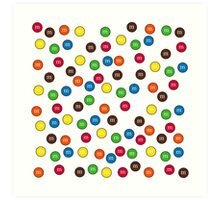 Cute Candy Chocolate Collage Art Print
