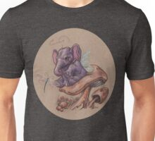Bitty Elephant with Dragonfly (on mushroom) Unisex T-Shirt