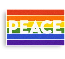 the rainbow peace flag project Canvas Print