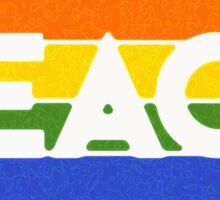 the rainbow peace flag project Sticker