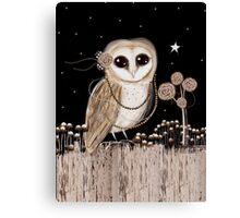 Little Barn Owl Canvas Print