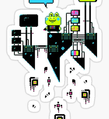 Kikkerstein - Statistical Pixel Genius Sticker