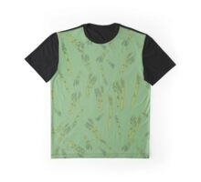 Asparagus on green Graphic T-Shirt