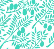 Turquoise Olive Branches Sticker
