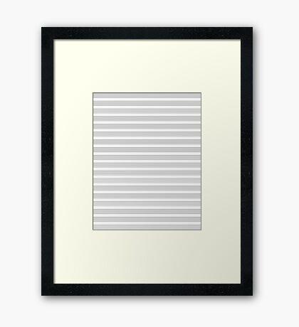 Lines - Musical Score Framed Print