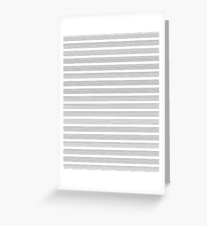 Lines - Musical Score Greeting Card