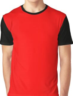 Red Flat Color Graphic T-Shirt