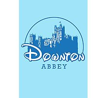 The Wonderful World of Downton Abbey (Downton Abbey + Disney logo mashup) Photographic Print
