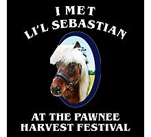 Met li'l sebastian at pawnee harvest festival Photographic Print