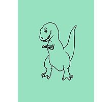 T-rex Playing an Ukulele Photographic Print