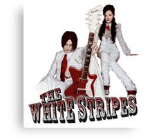 The White Stripes - Red & White Canvas Print