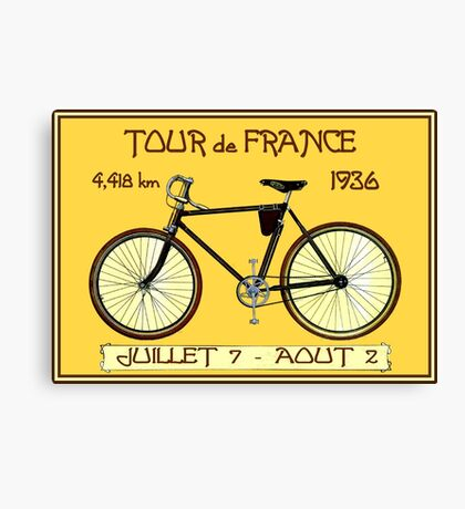 TOUR DE FRANCE ; Vintage Bicycle Race Print Canvas Print