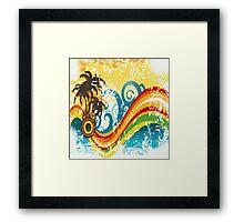 Island Rainbow Framed Print