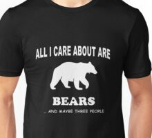 Care Bears All I Care About Are Bears Fozzie T-shirts Unisex T-Shirt