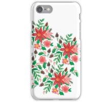 xmas floral iPhone Case/Skin