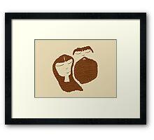 Coffee Girl Coffee Guy Framed Print