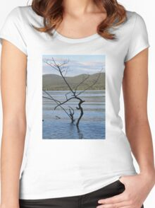 Tree Scene  Women's Fitted Scoop T-Shirt