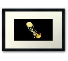 Skull Trumpet Framed Print