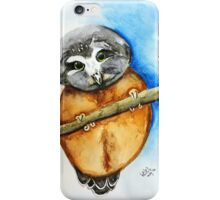 Baby Saw-whet owl iPhone Case/Skin