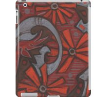 """""""October blossom"""", grey, orange & brown, abstract flowers iPad Case/Skin"""