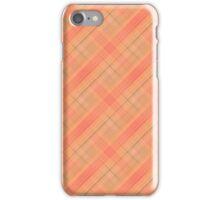 Peach and Green Plaid iPhone Case/Skin