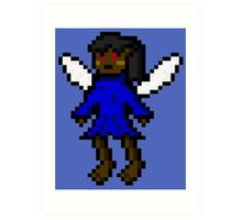Dark Blue Fairy Art Print
