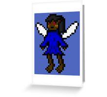 Dark Blue Fairy Greeting Card