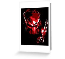 Predator Vector Art Greeting Card