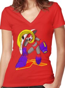 ProtoMegaman! Women's Fitted V-Neck T-Shirt