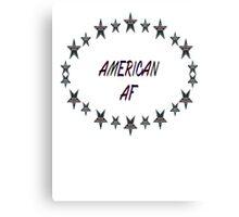 america af american patriot shirt Canvas Print