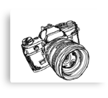 Vintage 35mm SLR Camera Design Canvas Print
