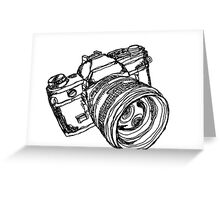 Vintage 35mm SLR Camera Design Greeting Card