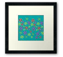 Abstract Floating Flower Shower Framed Print