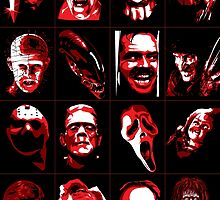 Horror Movie Icons Vector Art by EJTees