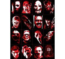 Horror Movie Icons Vector Art Photographic Print